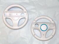 2 x Mario Kart Steering Wheels for Nintendo Wii & Wii U - Old Skool (WHITE)