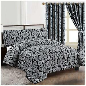 Luxury 3PCS Jacquard Quiltes Bedspreads and Matching Curtains available