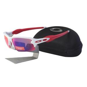 4f183e1176a Oakley OO 9295-05 FLAK 2.0 Polished White Prizm Road Lens Mens Sport ...