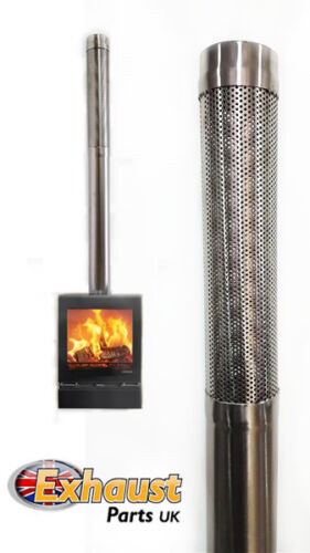 "3.5"" 89mm Stainless Steel Indoor Outdoor Log Burner Extension Flue Pipe Tube"