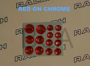 RALEIGH-BUDGIE-CHOPPER-GRIFTER-TOMAHAWK-RED-ON-CHROME-DOMED-R-NUT-LOGO-039-S