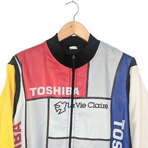 TOSHIBA-LA-VIE-CLAIRE-CYCLING-JERSEY-JACKET-Size-M-L
