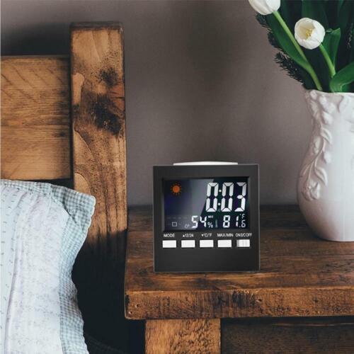 Digital LCD Digital Thermometer Humidity Meter Hygrometer Temperature Clock