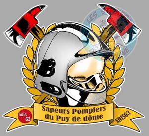STICKER SAPEURS POMPIERS DE CORSE DU SUD 2A AJACCIO AUTOCOLLANT POMPIER PE064