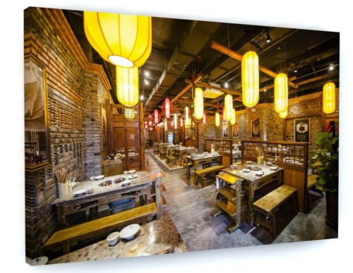 RESTAURANT HOME KITCHEN CAFE FOOD CANVAS PICTURE PRINT WALL ART 6544