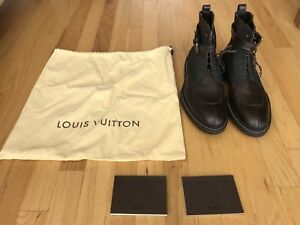 23923de94e8d5 100% Authentic Pre Owned LOUIS VUITTON Brown Boots Men s UK 8 - US 9 ...