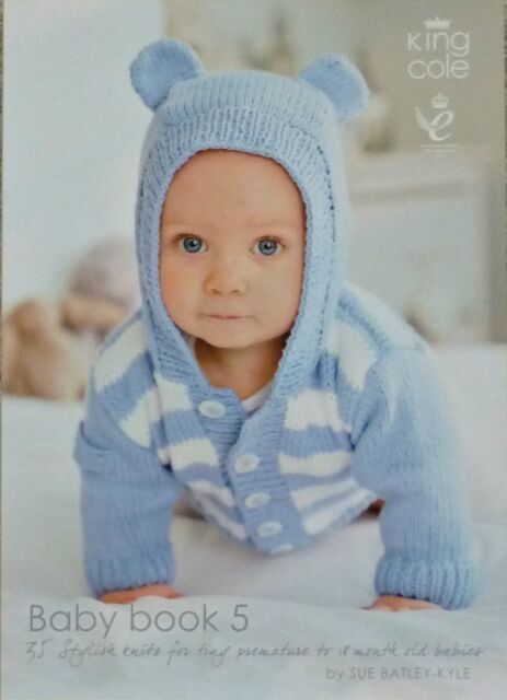 King Cole Baby Book 5 Knitting Patterns From Prem To 18 Months Ebay