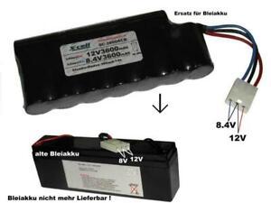 Ersatzakku für Blei Akku, 12V/8.4V3600 mAh...