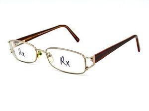 Design Italy TF 46 Women's Eyeglasses Frame, Gold / Brown. 53-19-140 #83H