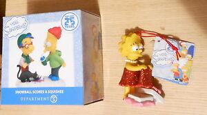 Simpsons Christmas Village.Details About Simpsons Christmas Village Figure Bart Milhouse Lisa Ornament Department 56
