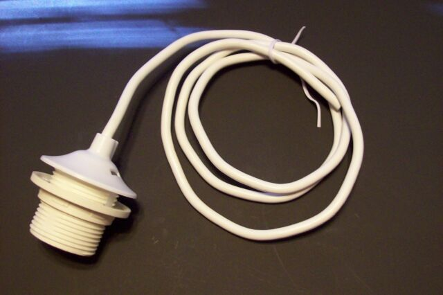 WHITE PENDANT SET WIRED 4' SVT CABLE CORD STANDARD SOCKET WITH SHADE RING 31000J