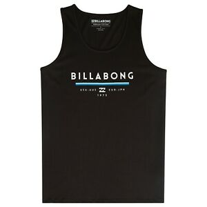 1184677b67386 BILLABONG MENS VEST.NEW UNITY TANK TOP BLACK COTTON SLEEVELESS T ...