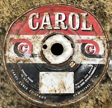 Vtg Carol 218 Gauge Copper Thermostat Wire White Red Stripe Cloth Insulation