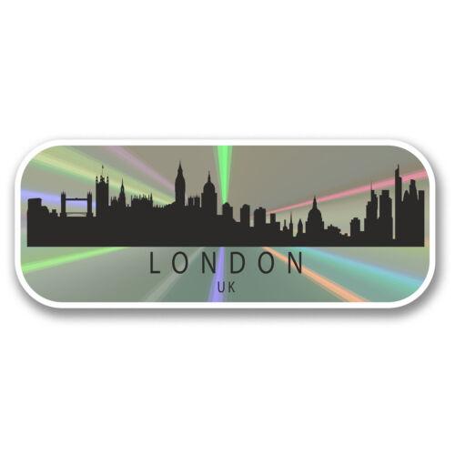 2 X 15 Cm Londres England Reino Unido pegatina de vinilo calcomanía viaje Equipaje bandera de la etiqueta # 6324