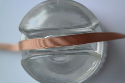 """10 yard roll 3//8/"""" wide vintage grosgrain medium brown ribbon hat dress 530"""