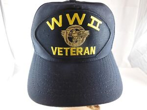 Details about World War 2 Veteran Hat Snap Back Eagle Crest Official  Military Headwear USA 0fdc99c509c
