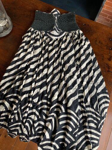 Vintage Wayne Clark Studio Silk Art Deco Black And