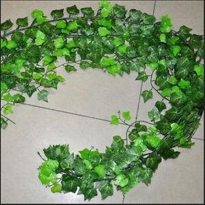 Home-Foliage-Decor-Green-Plant-Ivy-Leaf-Artificial-Flower-Plastic-Garland-Vi-RAC