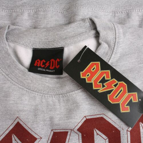 Grey S,M,XL Jumper ACDC About To Rock Official Mens