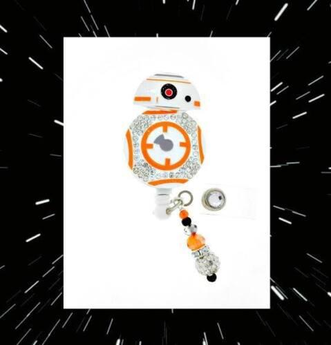 "/""BB-8/""Star Wars ID reel Badge holder~Gorgeous Ultimate Bling Badge Reel Holder"