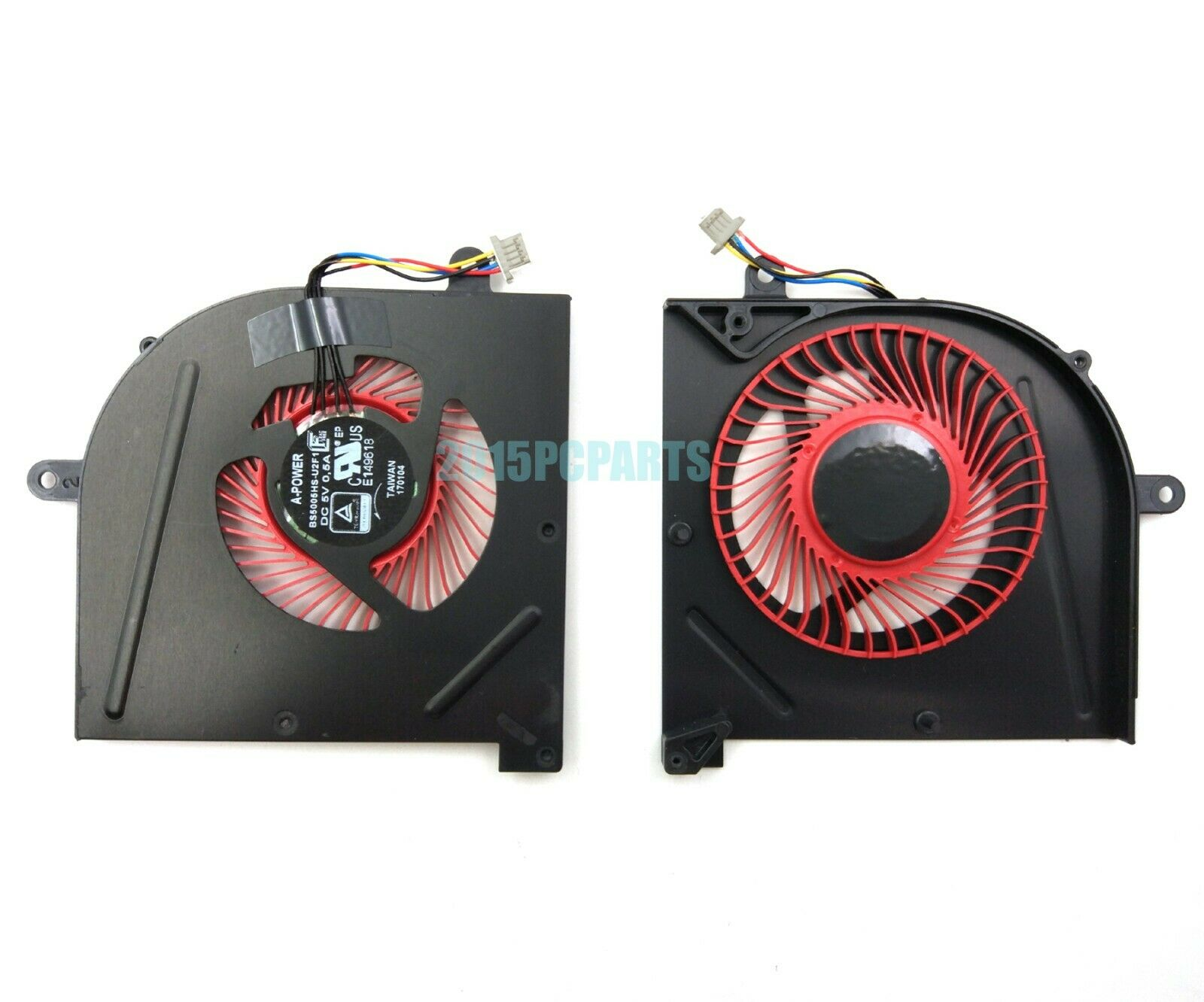 QUETTERLEE Replacement GPU Cooling Fan Compatible MSI GS63 GS63VR GS73 GS73VR GS62 MS-17B1 MS-17B2 MS-16K2 MS-16K3 Stealth Pro BS5005HS-U2L1 Fan
