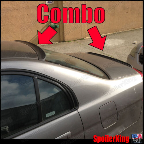 Rear Roof Wing /& Trunk Lip 284R//244L COMBO Spoilers Fits: Civic 2001-05 4dr
