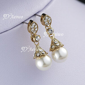 18k-yellow-gold-gf-made-with-swarovski-crystal-pearl-stud-earrings-fashion-AEIWO