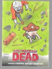 Walking Dead Comic Book series 1 orginial color art sketch card Mike Legan