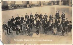 RPPC-Schuster-039-s-Students-Symphony-Orchestra-Salt-Lake-City-1914-Vintage-Postcard