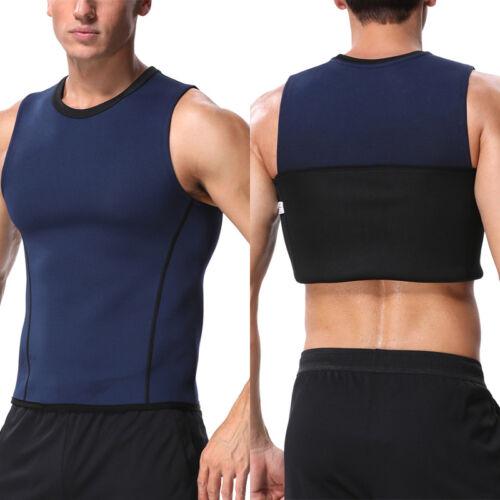 Men Sweat Vest Neoprene Slimming Shaper Shirt Weight Loss Sauna Suit Trainer UK