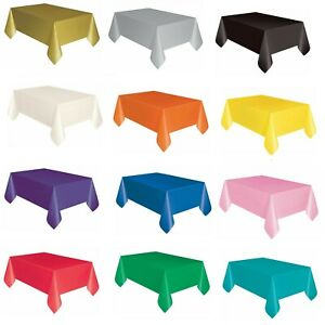 Rectangle-Disposable-Plastic-Table-covers-Wipe-Clean-Party-Table-cloth-Covers-UK