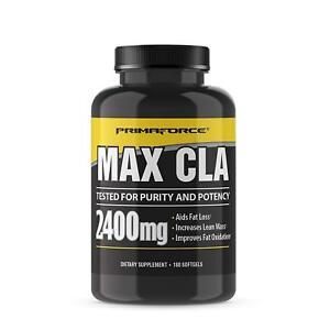 PrimaForce Max CLA 2400 Conjugated Linoleic Acid Supplement, 180 Count Softgels