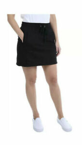 Jones New York Women's Black Skort With Pockets Casual Comfy 1372074