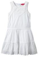 Derhy Kids Girls' Angelique, Sleeveless Dress, White, Size 12/14, Msrp $115