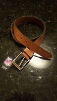 Dallas Cowboys Leather Mens Belt Embossed Tan Brown Size 30-46