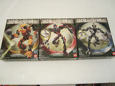 Set of 3 Lego Bionicle - 8755, 8756, 8761, 647 Pcs in Total