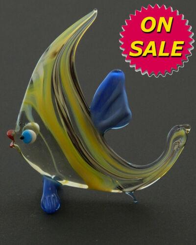 Art Blown Figurine Animal FISH GREEN  Murano Style