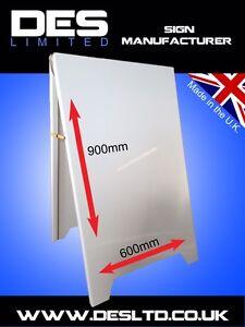 Steel-Metal-Legged-A-Board-Pavement-Sandwich-Chalk-Durable-Advertising-Sign-UK