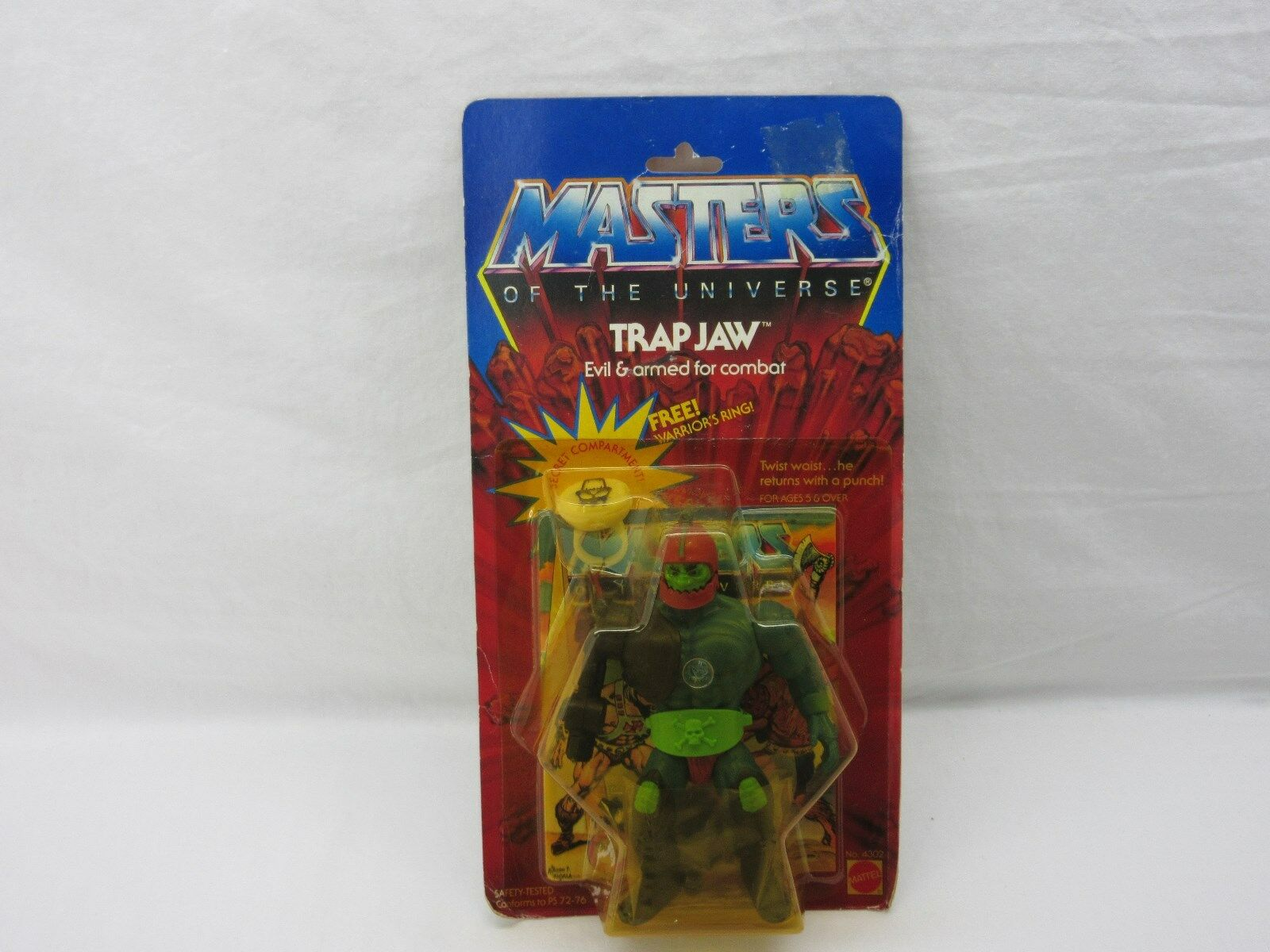 MOTU,VINTAGE,TRAP JAW,Masters of the Universe,MOC,carded,sealed,figure,He-Man