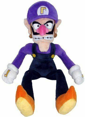 Super Mario Bros Waluigi Plush Doll Stuffed Figure Toy 11 inch USA stock
