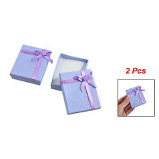 BT Bowtie Accent Cardboard Gift Cases Present Boxes Bracelet Holder Lavende