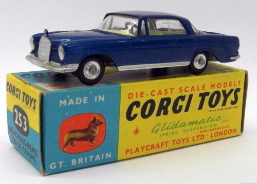Jouets anciens de Corgi Toys - 253 Mercedes Benz 220 Se Coupe Blue