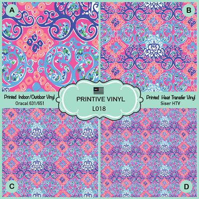 Adhesive Vinyl-  361 Patterned Vinyl Printed HTV Tiger Print Pattern HTV