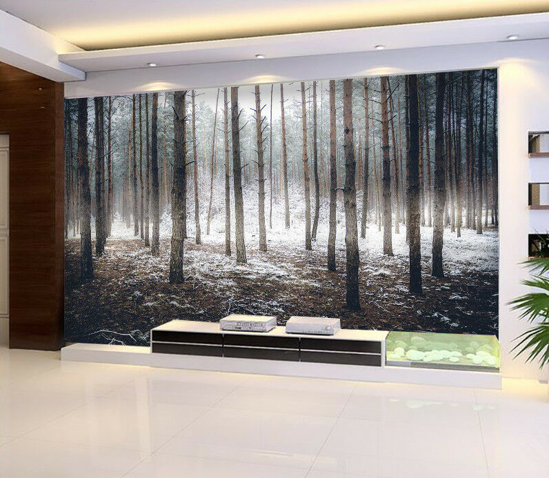 3D Winter Snow Woods 8 Wall Paper Murals Wall Print Wall Wallpaper Mural AU Kyra