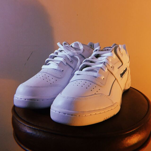 Reebok Classic Workout Plus Shoes Men s SNEAKERS Trainers White 2759 ... 9eff411e5