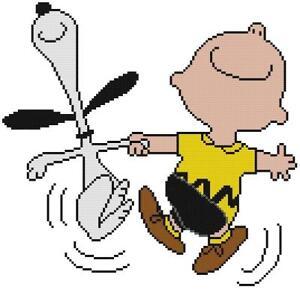 cross stitch craft pattern peanuts charlie brown snoopy dance jump rh ebay com animated snoopy dance clip art Snoopy Beach Clip Art