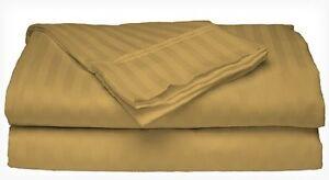 Queen-Size-Gold-400-Thread-Count-100-Cotton-Sateen-Dobby-Stripe-Sheet-Set