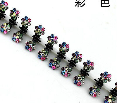 Hot  Women&Girl 6pcs Rhinestone Bridal Wedding Party Hair Claw Clips Hairclips