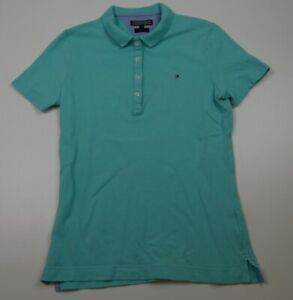 Tommy Hilfiger Poloshirt Polohemd Gr.S grün uni -P239