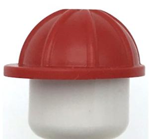 Lego 2x Red Construction Helmet Minifig Hardhat NEW